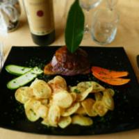 Filetto di Chianina all Alpina con Patate Sfogliate Fritte