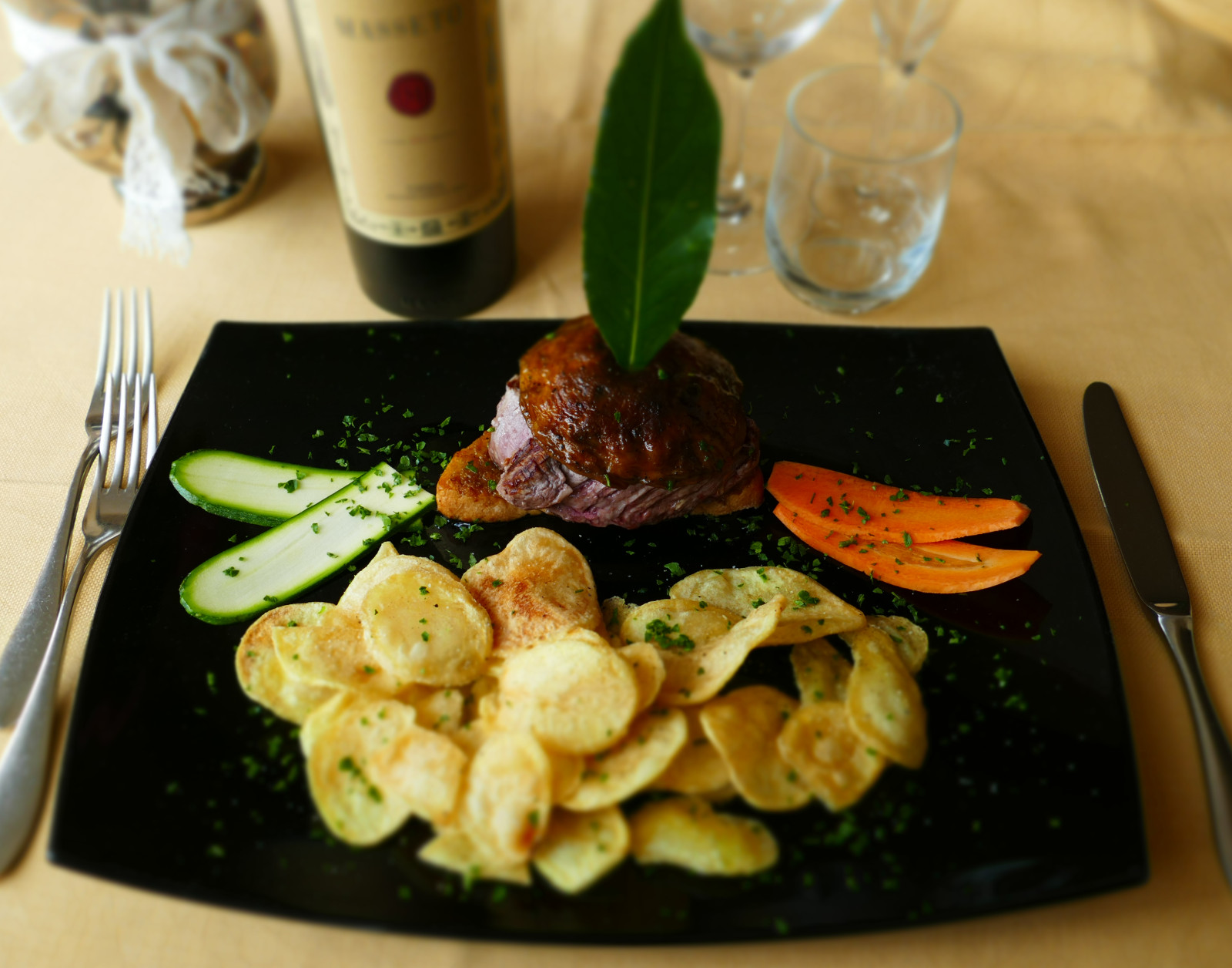 Filetto di Chianina all Alpina con Patate Sfogliate Fritte