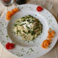 Risotto agli Asparagi di Campo con Burrata Campana